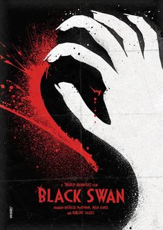 """Daniel Norris """"enjoys the challenge of visual storytelling, aiming to produce work that grabs the attention and lives in the memory."""" We take a look at one of Norris' creative works where he re-imagined film posters in his own special way. Black Swan 2010, Baby Movie, Minimal Movie Posters, Alternative Movie Posters, Poster On, Book Posters, Art Posters, Illustrations, Minimalist Poster"""