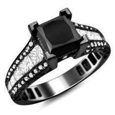 Black Gold Engagement Rings For Women 23