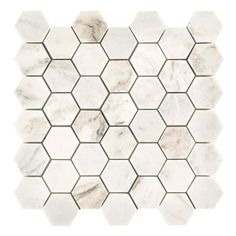 Bianco Orion Hexagon Polished Marble Mosaic - 12 x 12 - 100464791