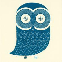 awesome owl screen print