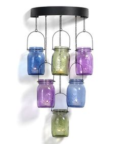 @Bonnie Schum  Loving this Tealight Mason Jar Chandelier on #zulily! #zulilyfinds Do you think we could make this?