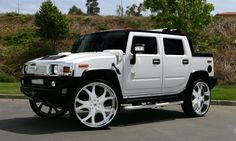 "Asanti Wheels available at Star Tire.  White Hummer H2 with 32"" white AF-143.  www.startireandwheels.com"