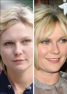with and without makeup: Kirsten Dunst...definitely better with!