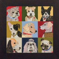 Amazon.com: Nine Loves 26x26 framed art prints dogs by Karen Dupre: Posters & Prints