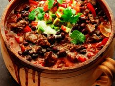 Vegetarian chili recipe with a deep, smoky flavor.