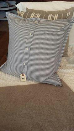 Men shirt made into pillow