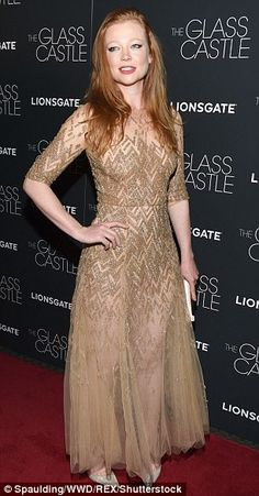 Sheer: Speaking of talent from Down Under, Naomi's onscreen daughter Sarah Snook - who plays Lori - flashed her thighs beneath a gossamer gold gown and silver pumps Persuasion Movie, Sarah Snook, Glass Castle, Gold Gown, Silver Pumps, Looking Dapper, Brie Larson, Dressed To The Nines, Red Carpets