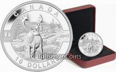 Canada 2013 Oh! Canada Series #08 - Caribou $10 Pure Silver Proof