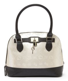 Love this Cream Embossed Hello Kitty Dome Satchel on #zulily! #zulilyfinds