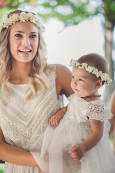 Model and designer Tori Praver and her baby- lovely bohemain look / Wedding Style Inspiration / LANE