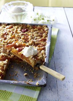 Unser beliebtes Rezept für Aprikosen-Streuselkuchen und mehr als 55.000 weitere kostenlose Rezepte auf LECKER.de.