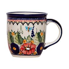 Konin Mug Coffee Mugs featuring polyvore, home, kitchen & dining, drinkware, fillers, food, other, cups, drinking, stoneware mugs, stoneware coffee mugs, handmade stoneware coffee mugs, polish pottery stoneware and handmade mugs
