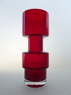 Riihimaki ruby coloured cased glass vase, Tamara Aladin