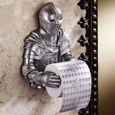 epic medieval toilet paper holder