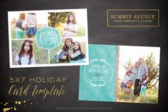Check out Watercolor Peace Holiday Card by Summit Avenue on Creative Market