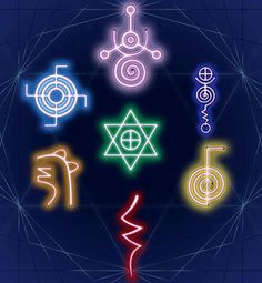 Reiki symbols - What many people don't know is that I'm a Reiki Master and use these on a daily basis.