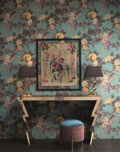 Tapeta w kwiaty RASCH kolekcja ETRO II Robin, Flora Und Fauna, Bird Cage, Botanical Illustration, Indoor Garden, Antique Furniture, Flower Patterns, Modern, Victorian