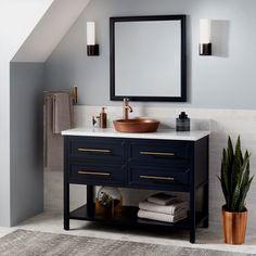 Best 25 brass drawer pulls ideas on pinterest brass hardware gold cabinet hardware and gold for Midnight blue bathroom vanity
