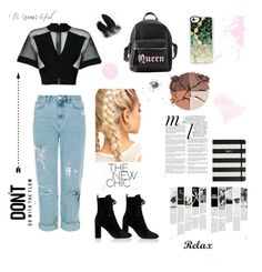 """""""Delvina's Fashion Book"""" by delvina-ari-dion on Polyvore featuring Balmain, Yves Saint Laurent, Charlotte Russe, Casetify, lilah b., Whiteley and Kate Spade"""