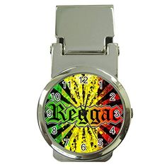 Cool Jamaican Culture Money Clip Watch >>> Click image for more details. (Note:Amazon affiliate link)