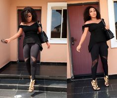 Welcome to Oghenemaga Otewu's Blog: Actress Rita Dominic stylish in all black outfit