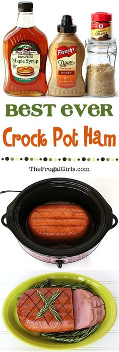 Save space in the oven during the holidays and cook your ham in the Crock Pot! This is the Best Crock Pot Ham Recipe: Easy, 5 Ingredients, and SO Delicious!