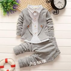 New Spring Baby Boy Clothing Set Toddler Boys 2 PCs Clothes Suit Baby Infant Tracksuit set Kids Gentleman Stripe Outfits Boys Clothes Style, Baby Boy Clothing Sets, Children Clothing, Toddler Outfits, Baby Boy Outfits, Kids Outfits, Baby Boy Suit, Tracksuit Set, Baby Boy Fashion
