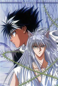 Kurama and Hiei - Yu Yu Hakusho- Manga Anime, Film Anime, Anime Art, Geeks, Paranormal, Yu Yu Hakusho Anime, Otaku, Samurai, Anime Tattoos