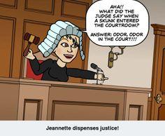 Jeannette dispenses justice!