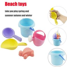 Beach/sand Toys Toys & Hobbies Delicious Hot Sale Rubber Beach Bucket Rake Car Baby Pretend Play Summer Playing Sand Water Outdoor Sports Games Toys Good Gift Demand Exceeding Supply