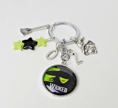 SEIRAA Female Driver Gift Yes I Can Drive A Stick Keychain Funny Gift for Witch Lover Broom Charm Jewelry Halloween Jewelry