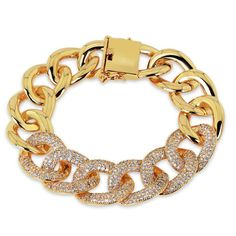 Real gold plated with AAA zircon Luxury cz Bracelet original design fashion jewelry by TeamPastorBoutique on Etsy