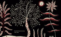 Illustration from The Great Race, a children's book by mata ni pachedi artist Jagdish Chitara. Gujurat India
