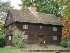 Buttolph-Williams House, built in 1711, is one of the oldest surviving homes in Wethersfield, Connecticut. This early 18th-century house is built in the traditional style of the Puritan settlers. The house has diamond-paned casement windows and weathered and blackened clapboards. The house plays a role in the Newbery Medal-winning book The Witch of Blackbird Pond, by Elizabeth George Speare.