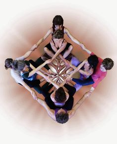 Human mandala...think energy.
