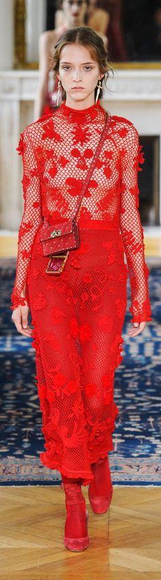 Valentino at Paris Spring 2017 - Crochet Dress