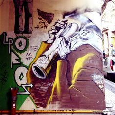 Athens street art guide: the best murals, neighborhoods' descriptions and detailed maps. Greece Travel, Athens, Amazing, Blog, Painting, Painting Art, Greece Vacation, Paintings, Painted Canvas