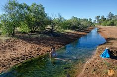Dipping in the Great Artesian Basin bore in Cunnamulla