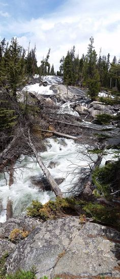 Roadside rapids along the Beartooth Highway near Cooke City Montana [OC] [4080x1760]