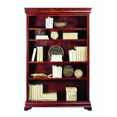 Home Decorators Collection Louis Phillipe 48 in. W Cherry Open Bookcase-6542110120 at The Home Depot
