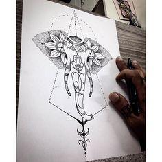 #mulpix Desenho elefante pra Tattoo! Arte bem feminina.  #art  #arte  #inked  #inked  #tat2  #tatu  #tatt2  #tattoo  #tatuagem  #tatuagemfeminina  #blackwork  #blackworktattoo  #tattoo2me