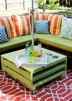Ahşap paletten kendin yap bahçe mobilyaları