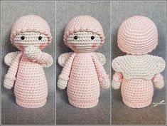 Best 12 Such crochet Angel as Amigurumi make for a great present, and they also can be used for decorating your home – SkillOfKing. Crochet Angel Pattern, Crochet Angels, Crochet Patterns Amigurumi, Amigurumi Doll, Crochet Dolls, Crochet Hats, All Free Crochet, Cute Crochet, Easy Crochet