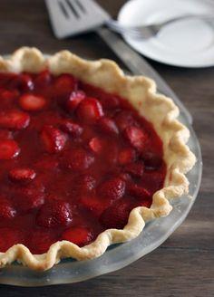 fresh strawberry pie | withloveandcupcakes.com