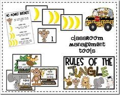 Jungle themed classroom posters (for ideas) Jungle Theme Rooms, Jungle Theme Classroom, Classroom Decor Themes, Classroom Rules, Classroom Posters, Kindergarten Classroom, Future Classroom, School Classroom, Classroom Organization