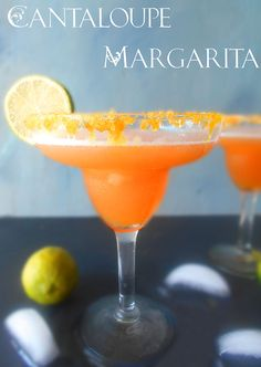 Looking for a unique Cantaloupe recipe? This is a perfect summer cocktail drink. The frozen cantaloupe margarita is easily the BEST margarita Recipe ever.