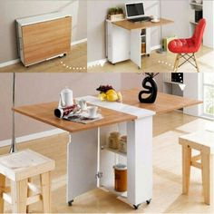 Top 16 Most Practical Space Saving Furniture Designs For Small Kitchen - Furniture - Kitchen Design Small, Multipurpose Furniture, Interior, Tiny House Furniture, Diy Furniture, Furniture For Small Spaces, Space Saving Dining Room, Space Saving Furniture, Furniture Design