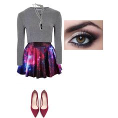 Galaxy Pop by treppenwits on Polyvore featuring polyvore, fashion, style, Glamorous and Zara