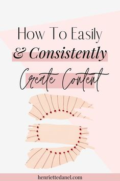 Episode How To Easily And Consistently Create Content - Henriette Danel Social Media Marketing Business, Content Marketing Strategy, Online Marketing, Mobile Marketing, Inbound Marketing, Business Logo, Business Ideas, Instagram Insights, Instagram Tips