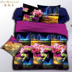 Find More Bedding Sets Information about 3D Bedding Set ablaze with lights Queen Size 4PCS Duvet Cover Sheet 2Pillow Case housse de couette Children fundas nordicas 3d,High Quality bedding set king,China bedding photos Suppliers, Cheap bedding sets black and white from Top Qulity Human Hair Factory on Aliexpress.com